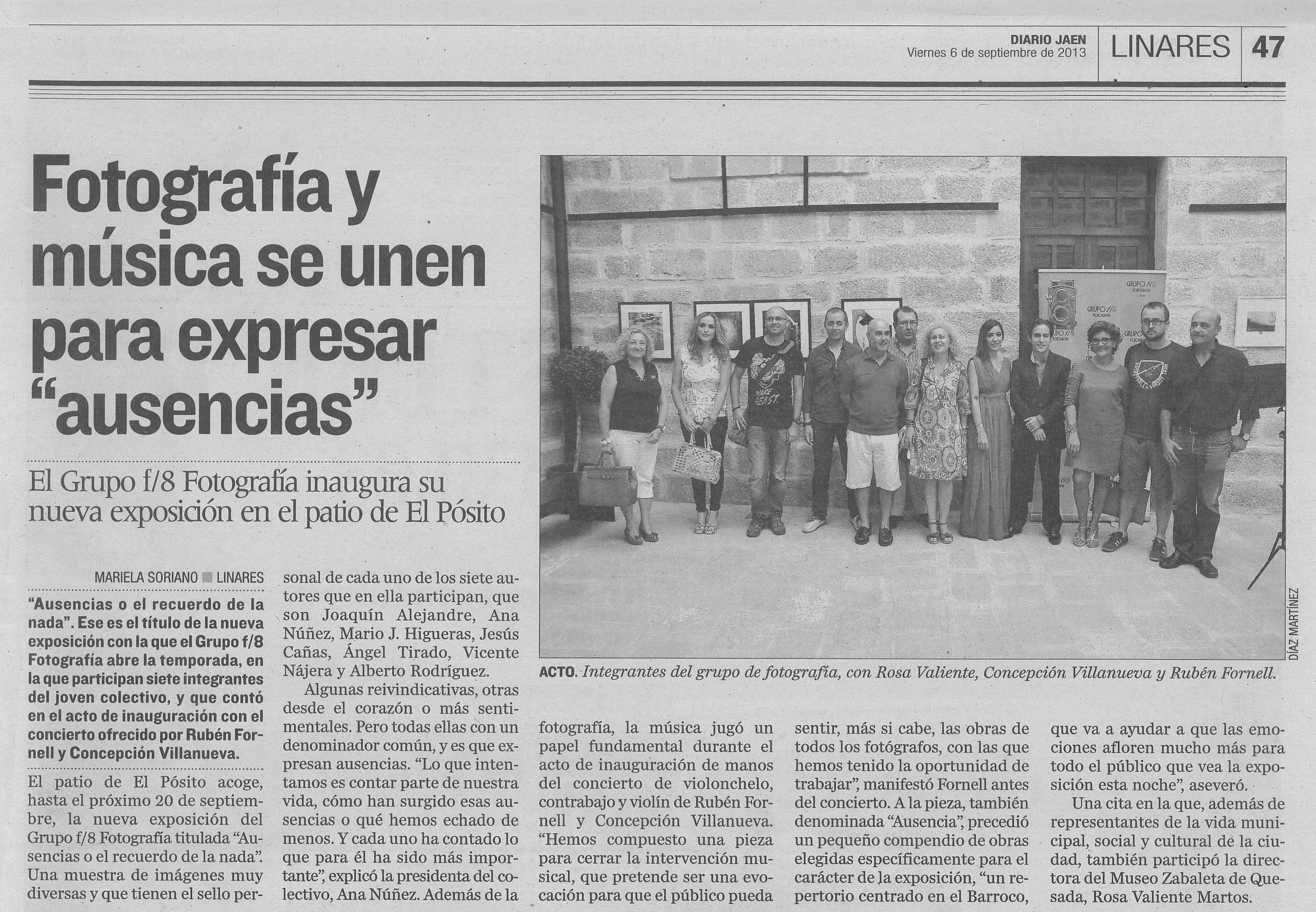 """Diario Jaén - """"Ausencias"""""""