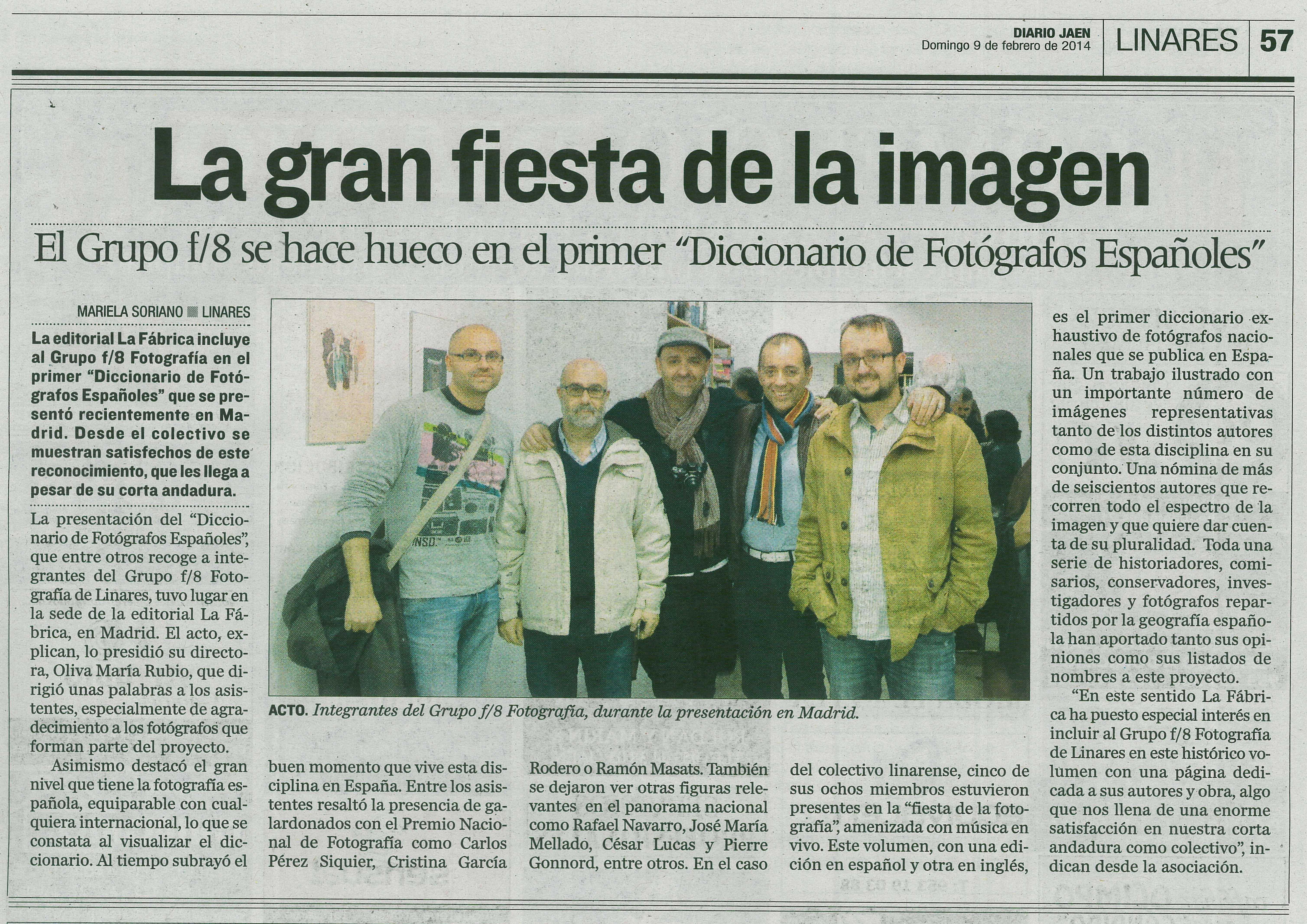 "Diario Jaén - ""Diccionario Fotógrafos Españoles"""
