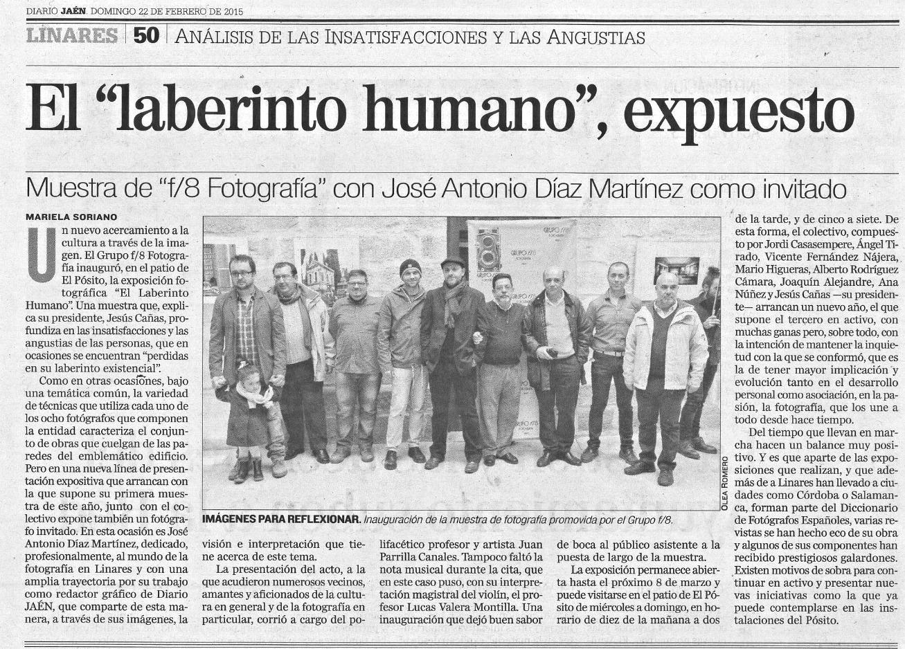 """Diario Jaén - """"El laberinto humano"""""""