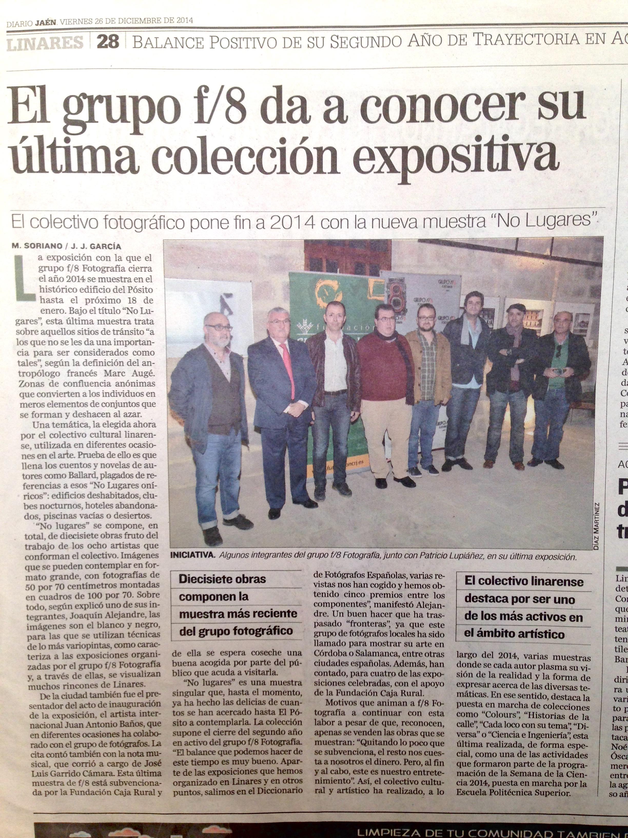 """Diario Jaén- """"No lugares"""""""